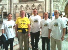 The RBAET London Legal Walk Team