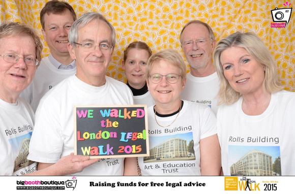 The RBAET 2015 London Legal Walk Team